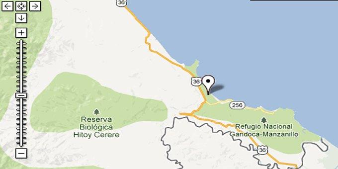Google Maps of Costa Rica