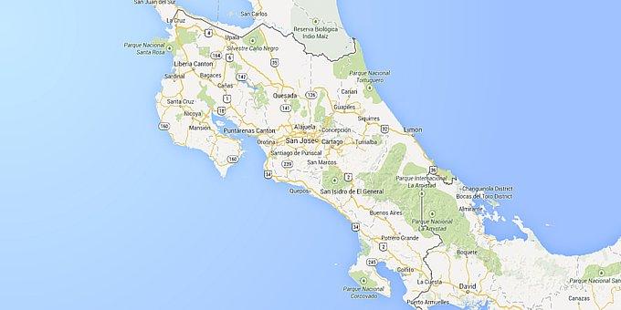 Costa Rica Maps - Where is Costa Rica?