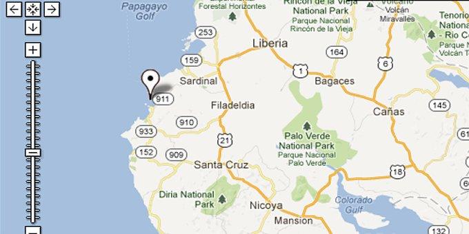 Map Of Playa Flamingo Costa Rica