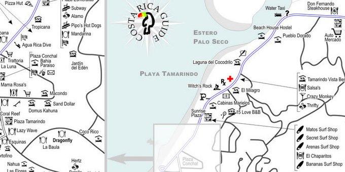 map of tamarindo costa rica Map Of Tamarindo Costa Rica map of tamarindo costa rica