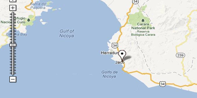 map playa hermosa costa rica Map Of Playa Hermosa De Jaco Costa Rica map playa hermosa costa rica