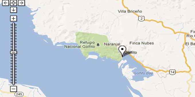 golfito costa rica map Map Of Golfito Costa Rica golfito costa rica map